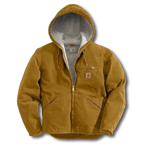 Carhartt Style #: J141 Men�s Sandstone Sierra Jacket/Sherpa Lined J141